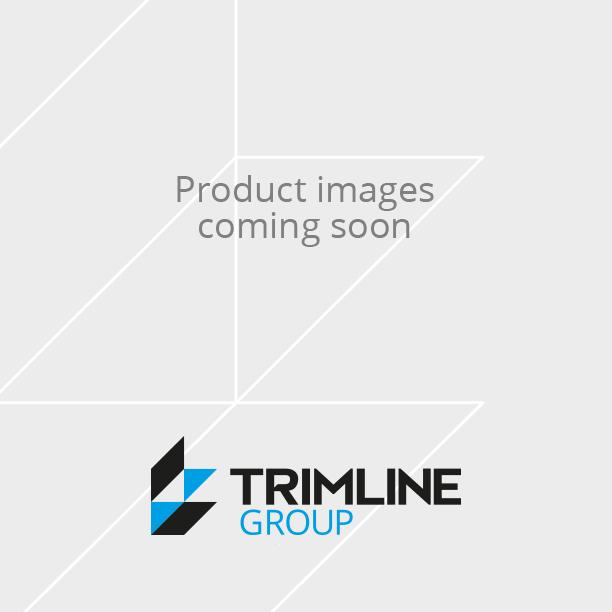 PVC Round Edge Closed Profile White 8mm