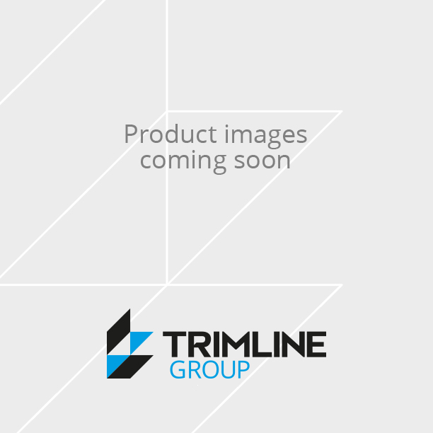 PVC Round Edge Closed Profile White 6mm