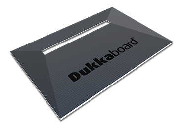 Dukkaboard Shower-Trays - Channel Drain - Long Quad Gradient