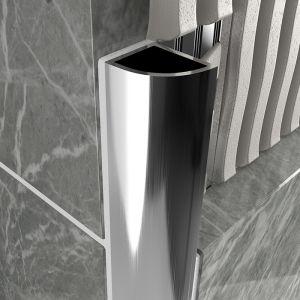 Atrim Aluminium Round Edge - Closed Profile