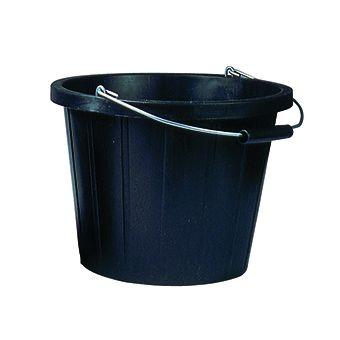 PVC Bucket With Handle Black 14L