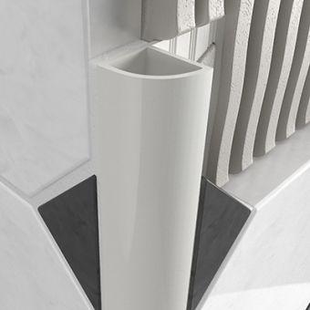 PVC Round Edge Closed Profile - White 12mm