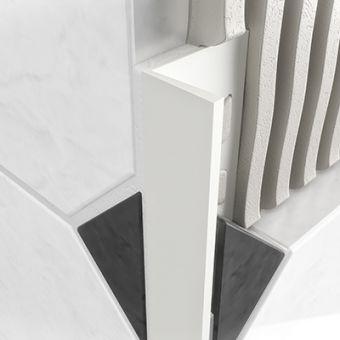 PVC Square Edge Profile - White 10mm