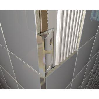 Aluminium Chrome Square Edge Profile 6mm