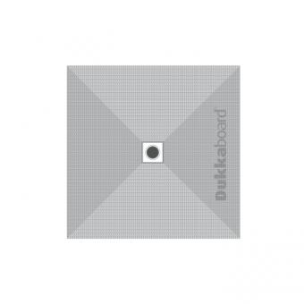 Dukkaboard Shower-Tray Square - Centre Drain - 1200x1200mm