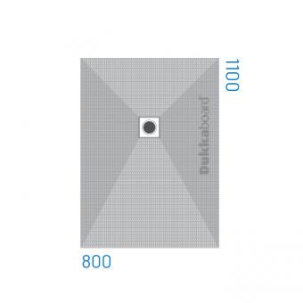 Dukkaboard Shower-Tray - Rectangular - End Drain - 1100x800mm