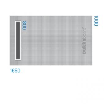 Dukkaboard Shower-Tray - Channel Drain - 1650x1000mm
