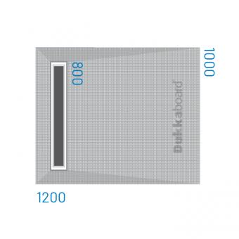 Dukkaboard Shower-Tray - Channel Drain - 1200x1000mm