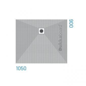 Dukkaboard Shower-Trays - Side Drains-1050x900mm