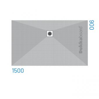 Dukkaboard Shower-Trays - Side Drains-1500x900mm