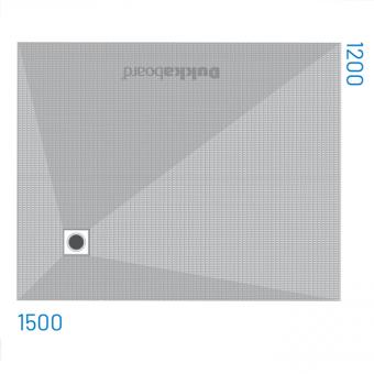 Dukkaboard Shower-Trays - Corner Drains-1500x1200mm-(x=270mm y=930mm)