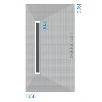 Dukkaboard Shower-Trays - Channel Drain - Long Quad Gradient-1050x1900mm