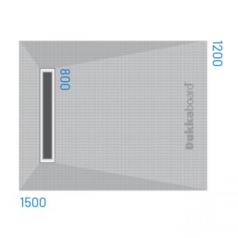 Dukkaboard Shower-Trays - Channel Drain - End Quad Gradient-1500x1200mm