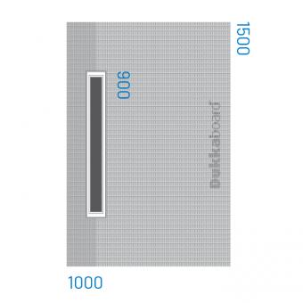Dukkaboard Shower-Trays - Channel Drain - Long Twin Gradient-1000x1500mm