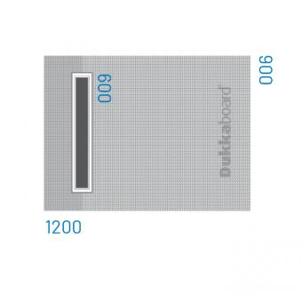 Dukkaboard Shower-Trays - Channel Drain - End Twin Gradient-1200x900mm