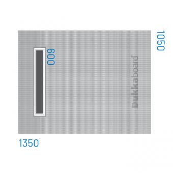 Dukkaboard Shower-Trays - Channel Drain - End Twin Gradient-1350x1050mm