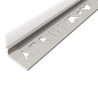 Atrim Limestone Coated Effect Aluminium Straight Edge - 2.5m
