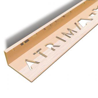 Atrim Brushed Copper Coated Effect Aluminium Straight Edge