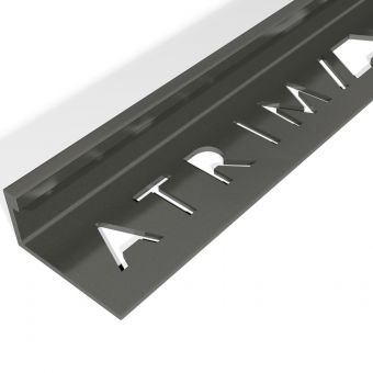 Atrim Gloss Black Coated Effect Aluminium Straight Edge