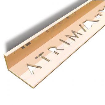 Atrim Polished Copper Coated Effect Aluminium Straight Edge Tile Trim - 2.5m