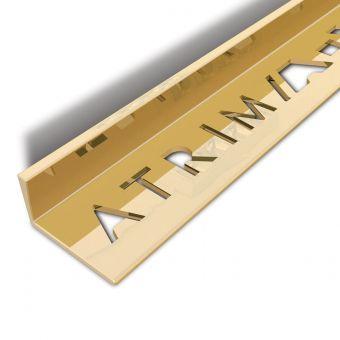 Atrim Polished Brass Coated Effect Aluminium Straight Edge - 2.5m