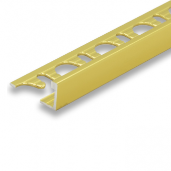 Progress Gold Aluminium Straight Edge - 2.7m