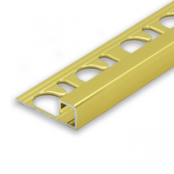 Progress Gold Aluminium Cube Edge - 2.7m