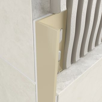 Atrim PVC Square Edge Profile Jasmine 8mm