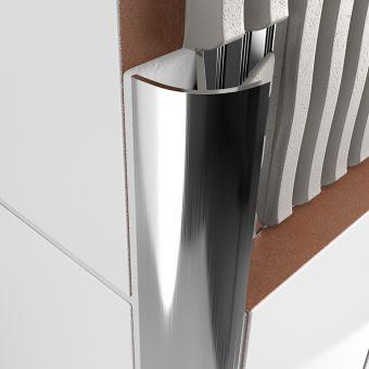 Atrim Aluminium Round Edge - Open Profile