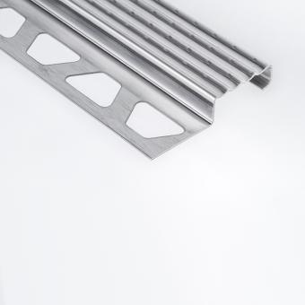 Schluter Stainless Steel TREP-E - Stair Edging - 2.5m