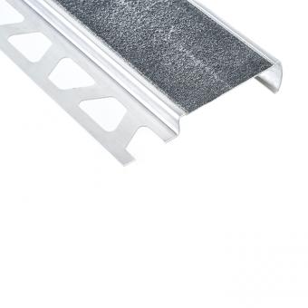 Schluter Stainless Steel TREP-G-B / G-S - Stair Edging - 2.5m