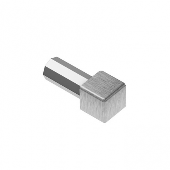 Schluter Brushed Stainless Steel QUADEC - Corner Pieces