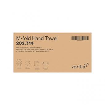 Vortha M-Fold Hand Towel Box - Side View